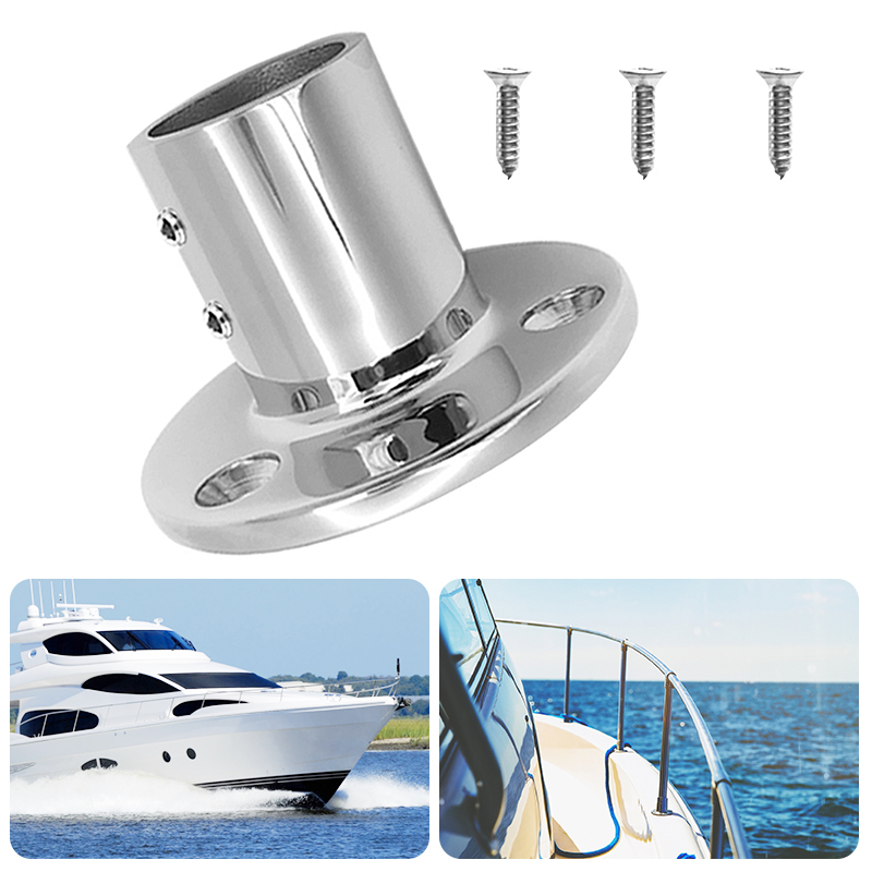 1 Set 25mm /1″ 90 Degree Round Stanchion Base 316 Stainless Steel Boat Hand Rail Fitting For Sailboat & Powerboat Railing Etc-in Marine Hardware from Automobiles & Motorcycles