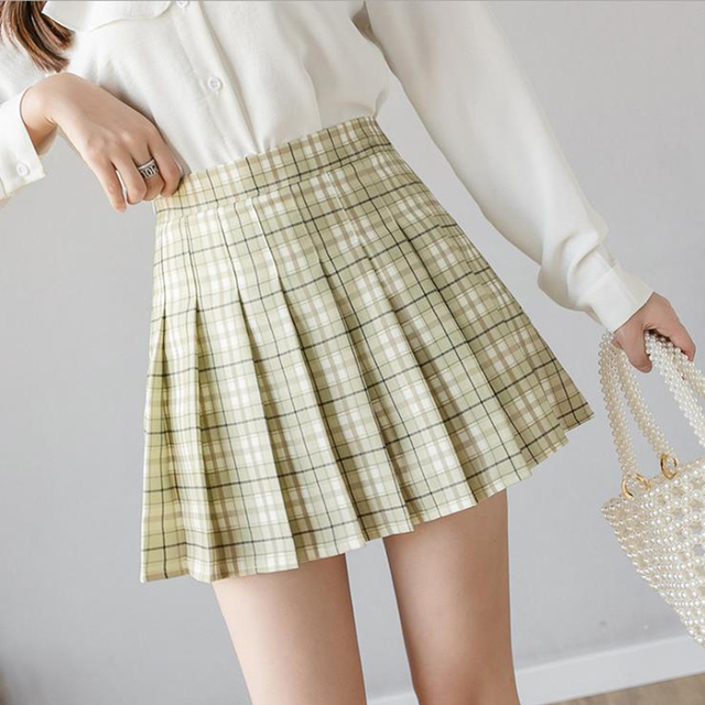 XS-3XL Women Skirt Preppy Style High Waist Chic Stitching Skirts Summer Student Pleated Skirt Women Cute Sweet Girls Dance Skirt 3