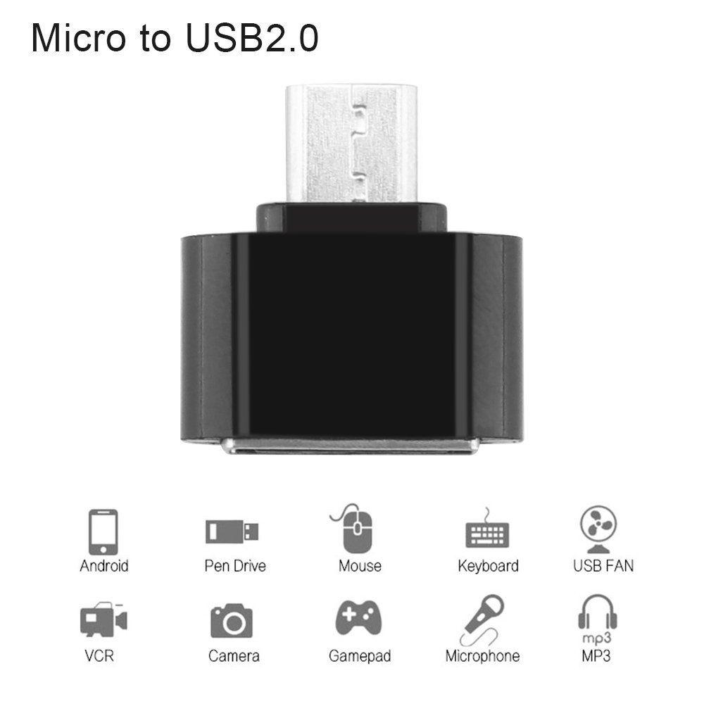 OTG Adapter USB OTG Converter Head SD Card Reader Connection Kit For Android Phone