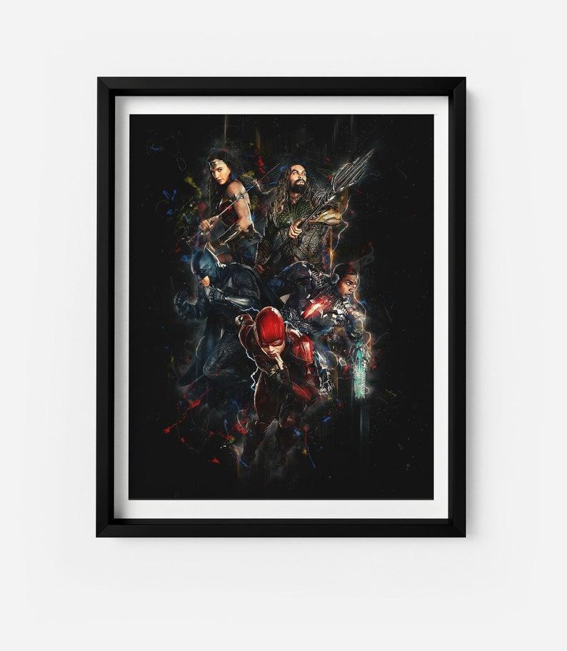 Современная Настенная живопись Мстители персонаж эндшпиль Железный человек Тор Капитан Америка постеры картина холст домашний декор - Цвет: Оранжевый