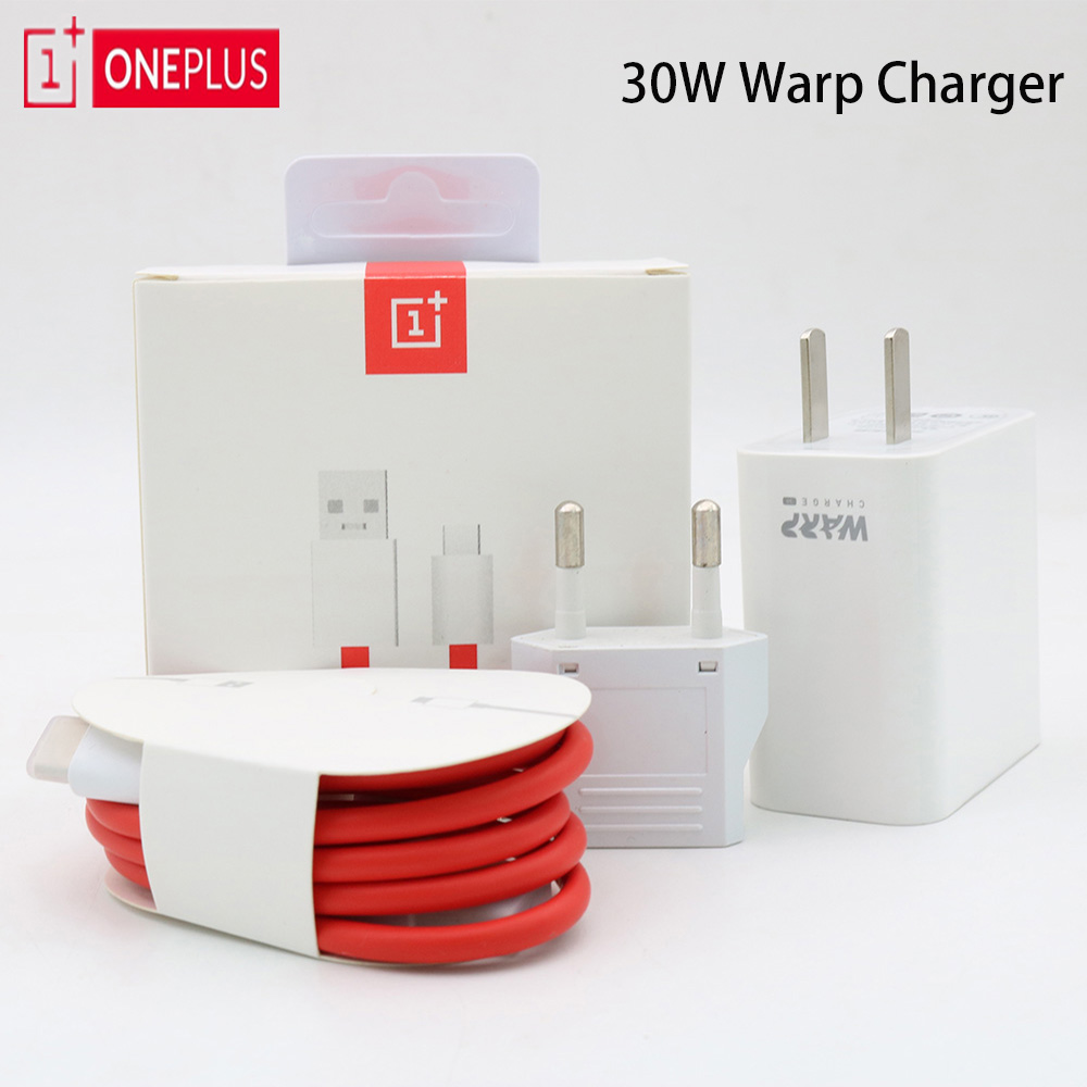 Oneplus Charger Cable 30-Power-Adapter Dash Usb-Type-C Original 5V 30W for 7-Pro EU 6A