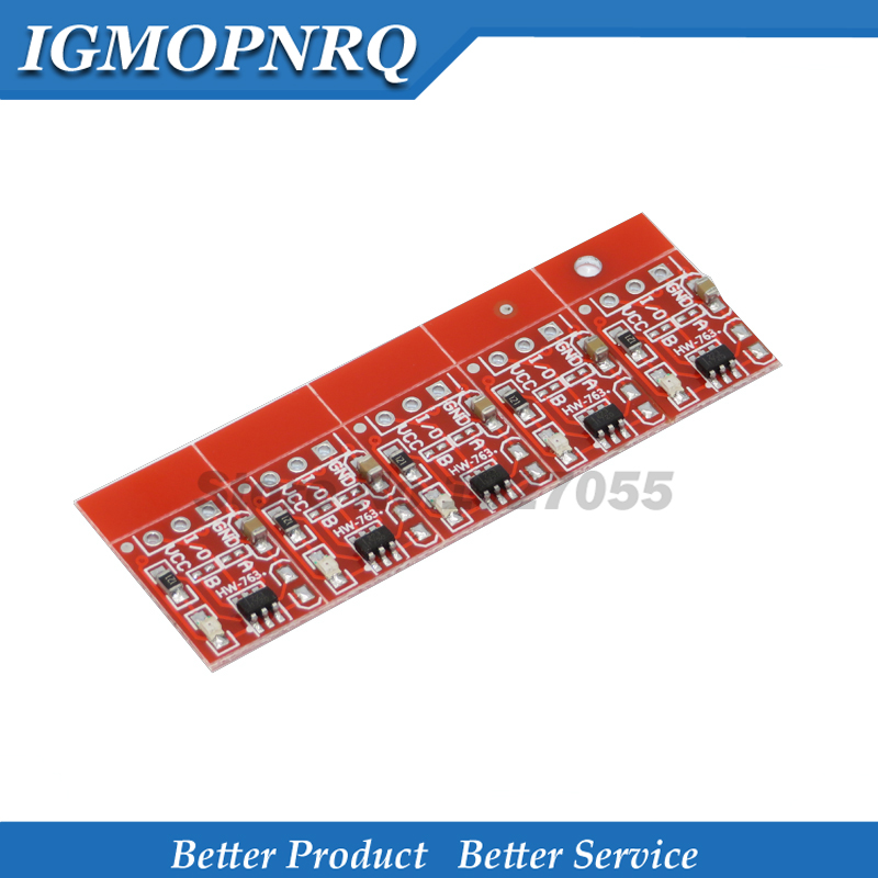 50PCS TTP223 Touch Button Module Capacitor Type Single Channel Self Locking Touch Switch Sensor RED