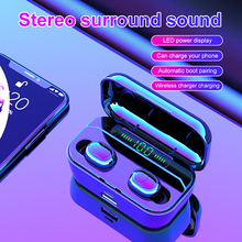 Teamyo G6s TWS Wireless Bluetooth Earphone Headphone With 3500mAh Power Bank V5.0 LED Display Headset IPX7 Waterproof