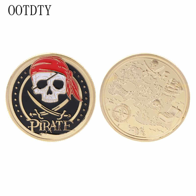 Souvenir Travel Gift Pirate Commemorative Coin Handmade Alloy Crafts Coins Cool Fashion Collection Decorations