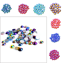 amethyst ab non hotfix crystal rhinestones ss3 ss30 and mixed sizes glue on glass chaton diy backpack clothes bag shoes supplies Good Quality ss3-ss30 Crystal AB Volcano Flat Back Nail Art Glue On Rhinestones / Non Hotfix Crystals ab for DIY nail art decora