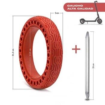 Rueda para patinete Electrico compatible con Xiaomi M365 Rojo