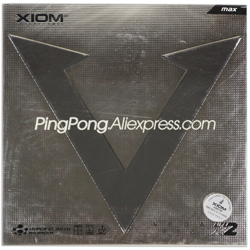 XIOM VEGA PRO Table Tennis Rubber (Non-sticky Rubber, Loop) Original XIOM VEGA Ping Pong Sponge
