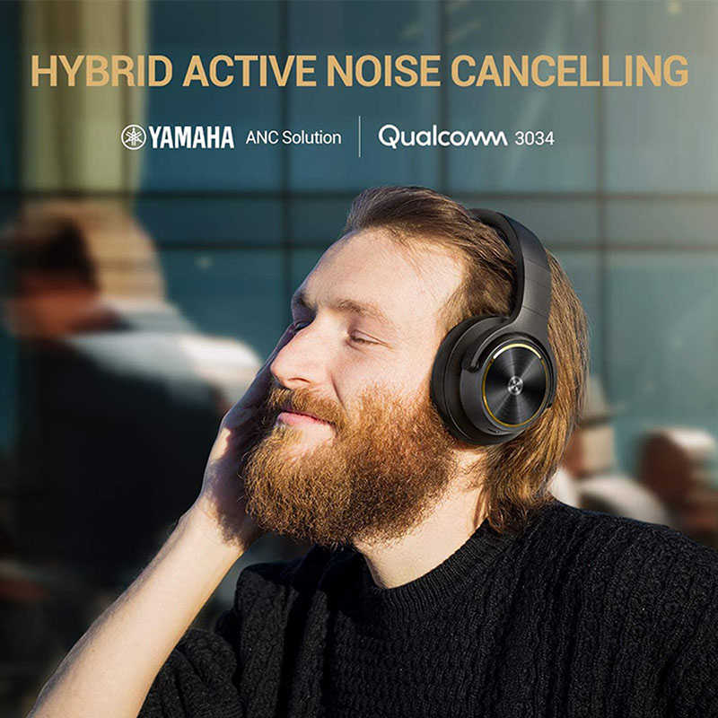 Vantop Cystereo Lava Bluetooth 5.0 ANC Noise Cancelling Headphones APTX HD Deep Bass 5 Built-in Mics Over Ear Wireless Headsets