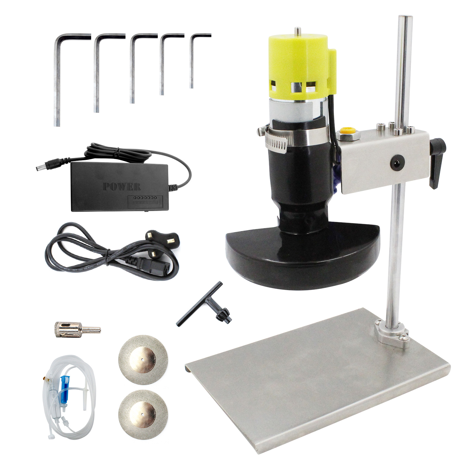 Electric Glass Bottle Cutter Cutting Tool Cutting Machine with 7 Variable Speed for DIY Flowerpot Round Oval Glass Bottles Craft