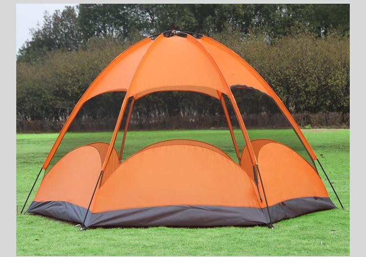 Mongolian Yurt Tent Fishing Mosquito Net Picnic Family Outdoor Camp Summer Beach Camping Tent 5 Person Waterproof (9)