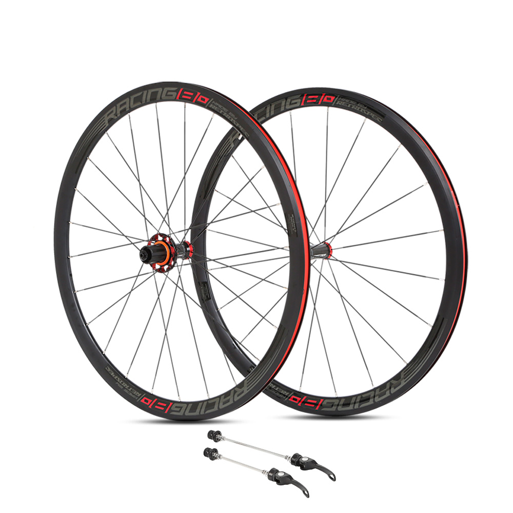 <font><b>700c</b></font> Road Bike Wheelset Four Bearing Carbon Hubs <font><b>20h</b></font> 24h Flat Spokes <font><b>Rims</b></font> Dual AL7005 Depth 36mm F100 R130 8-9-10-11-12 Cassette image