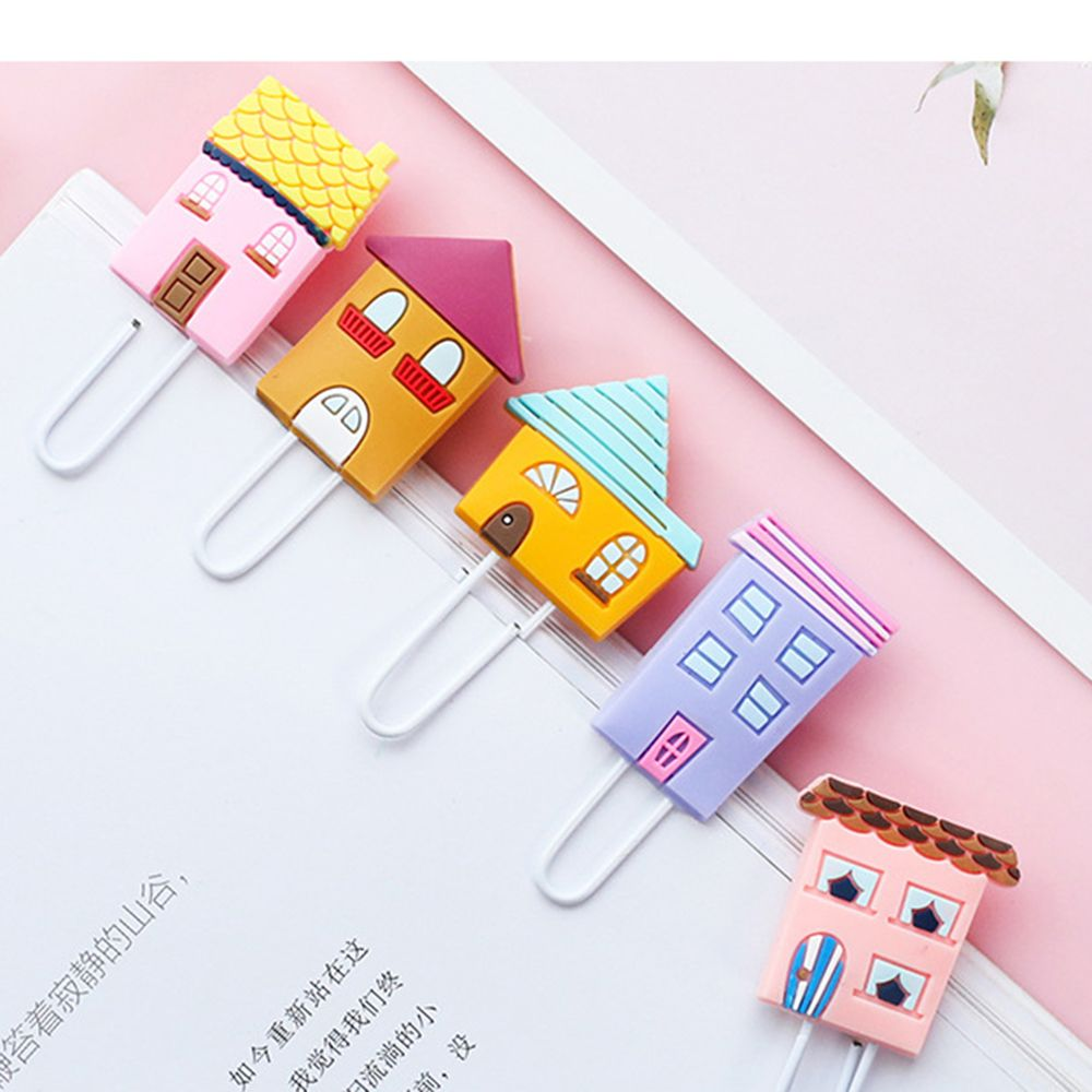 3PCS/Pack Creative Soft Bookmarks Paper Clips Girls Heart Fashion Bookmarks Student Page Book Clips Color Paper Clips