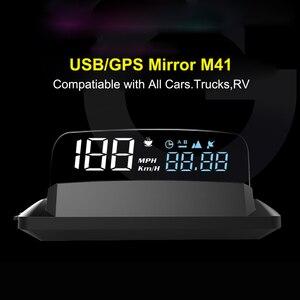 Image 5 - مقياس سرعة للحاسوب من EANOP HUD مزود بشاشة عرض علوي OBD2 ونظام تحديد المواقع العالمي للسيارات مع مراقبة استهلاك زيت KMH KPM