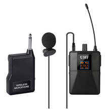 U8 Professional UHF Wireless Lavalier Microphone Lapel Mic with Receiver Transmitter for Camcorder Classroom Lecture Teaching