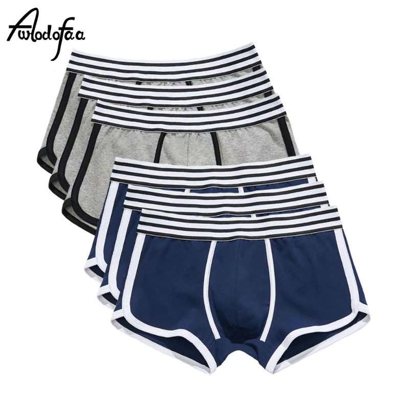 6Pcs/lot Men Underwear Boxer Cotton Cuecas Boxers Mens Boxer Shorts Underwear Low Waist U Convex Pouch Man Breathable Underpant