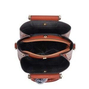 Image 4 - FUNMARDI 4PS komplet torebek damskich luksusowe krokodyl kobiece torebki PU skórzane torby na ramię marki torby kompozytowe Crossbody WLHB2024