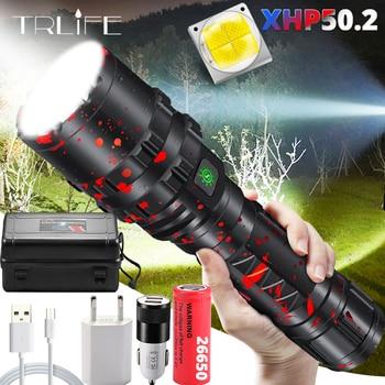 LED Flashlight XHP50.2 Most Powerful Xlamp Hunting L2 Waterproof 5 switch Modes Torch Light Lanterna use 18650 26650 Battery 1
