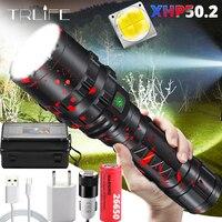 LED 손전등 XHP50.2 가장 강력한 Xlamp 사냥 L2 방수 5 스위치 모드 토치 라이트 Lanterna 사용 18650 26650 배터리