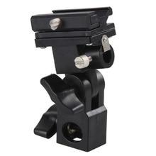 Swivel Flash Hot Shoe Umbrella Holder Light Bracket Stand Mount Adapter For Studio Type B