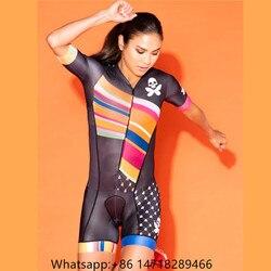 Betty Desain Wanita Triathlon Pakaian Pendek Lengan Bersepeda Perapi Speedsuit Go Pro Maillot Ciclismo Skinsuit Pakaian Wanita 2019