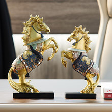 Feng Shui desk Resin Horse Figurines Animal Statue Vintage Home Decor Crafts Ornaments Home Decoration Accessories Chinese style