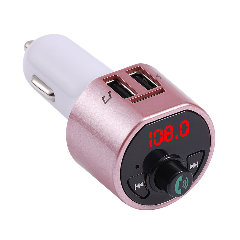FM Transmitter Bluetooth Handsfree Car Kit Multifunction MP3 Player With Dual USB Charger EM88