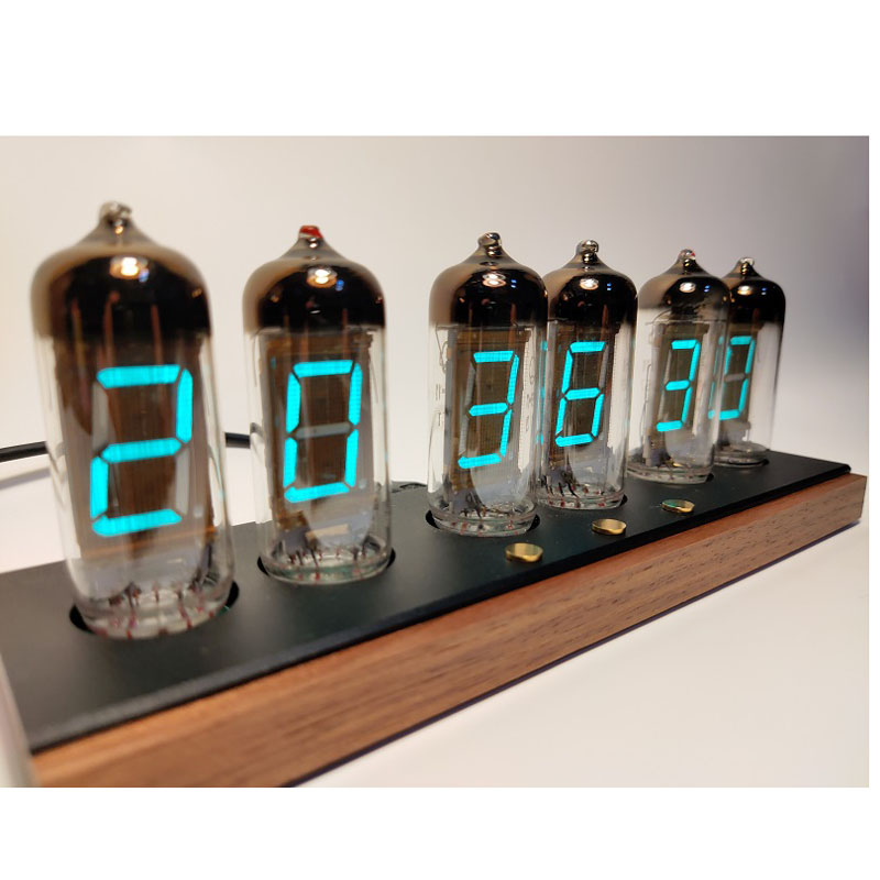 IV11 fluorescent tube clock glow tube clock voice Bluetooth intelligent electronic clock clock alarm clock 2