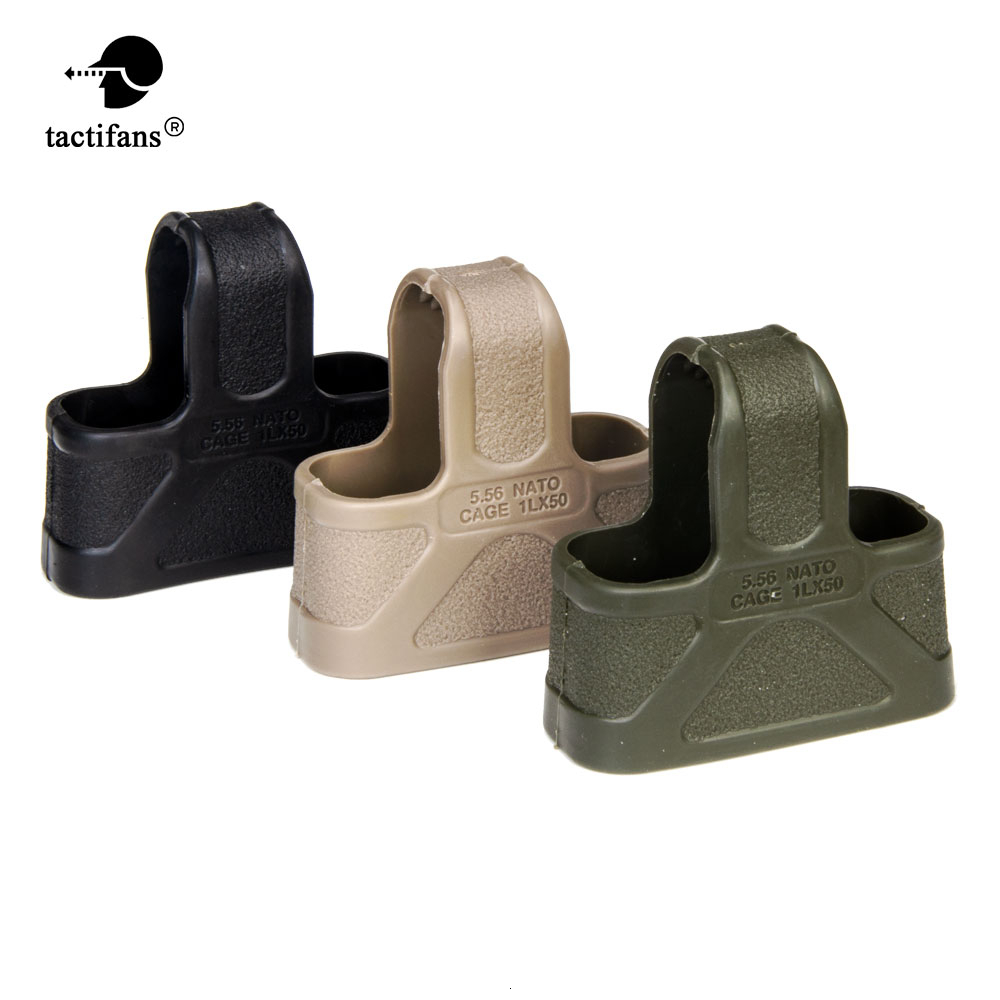 Tactical NATO 9mm 5.56 7.62 Rubber Cage Loops Fast Mag Pull For <font><b>M4</b></font> M16 AK <font><b>Magazine</b></font> Assist Hunting Shooting Paintball Accessories image