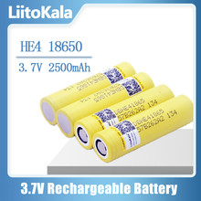 LiitoKala HE4 18650 Rechargeable li lon battery 3.6V 2500mAh Battery can keep,Max 20A,35A discharge High discharge