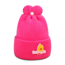 Rabbit Ear Peral Baby Hats Cotton Woolen Newborn Turban Beanie Warm Caps Soft Hat For Girls Boys Elastic Bonnet Autumn Winter стоимость