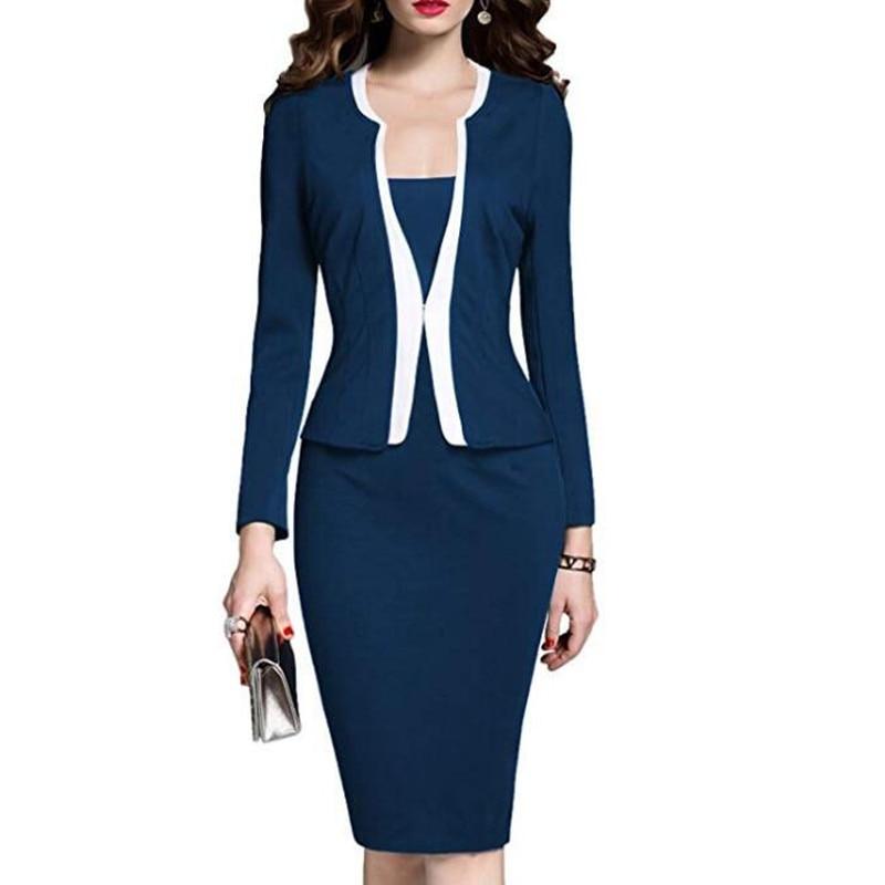 Dress Suit Women Formal Work Office Dress Female Casual Party Robe Big Size Fashion Lady Frocks Chic Ukraine Dress Clothing Sale