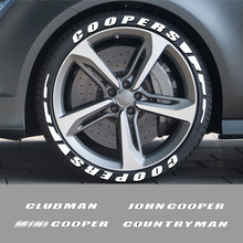3D Car Tyre Letters Stickers For Mini John Cooper R50 R52 R53 R55 R56 R57 R58 R59 R60 R61 Countryman Clubman Coopers Accessories