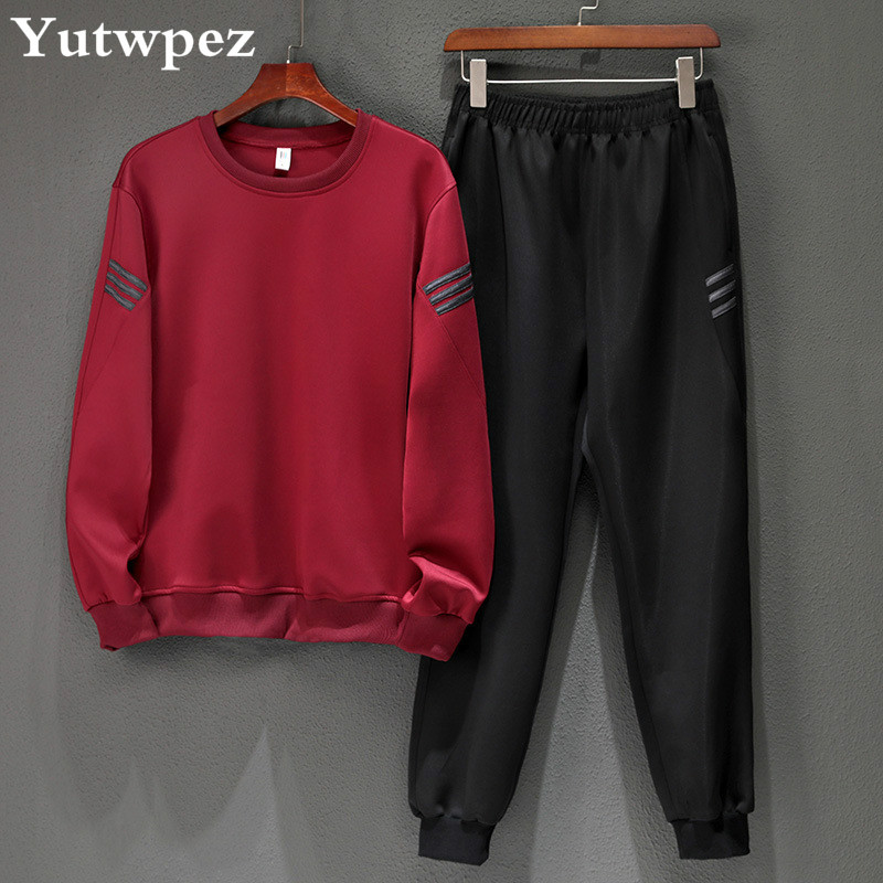 Tracksuit Men Jogging Homme Workout Fitness Men's Set Long Sleeves Sweatshirts Sporting Suit Pant Set Men Trainingspak Mannen