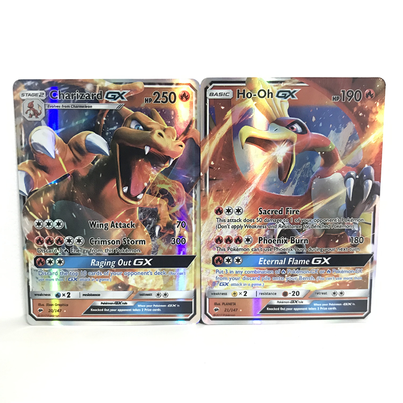 Anime Game Pokemon Cards GX No Repeat TAM TEAM Flash MEGA Shining Battle Carte Pokemones Collection Trading Cards Children Toy