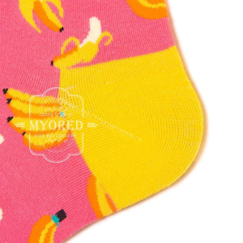 Myored 1 Cotton Chải Kỹ Tất Dành Cho Người Đàn Ông Ngộ Nghĩnh Tất Nhiều Màu Sắc Môi Anh Đào Dứa Đàn Guitar Lemon Pitaya Chuối Lê Calcetines