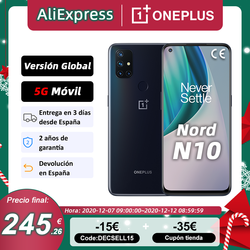 Global Version OnePlus Nord N10 5G Cellphone 6GB 128GB Snapdargon 5G 6.49'' 90Hz FHD+ Display Warp Charge 30T NFC