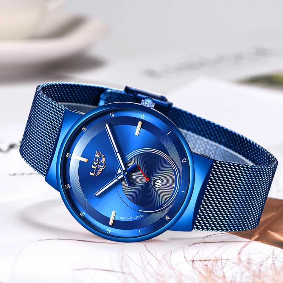 H642222d2ab0b43b781263ffd8c21fb6eP - Watch Women And Men Watch LIGE Top Brand Luxury Ladies Mesh Belt Ultra-thin Watch Waterproof Quartz Wrist watch Reloj Mujer