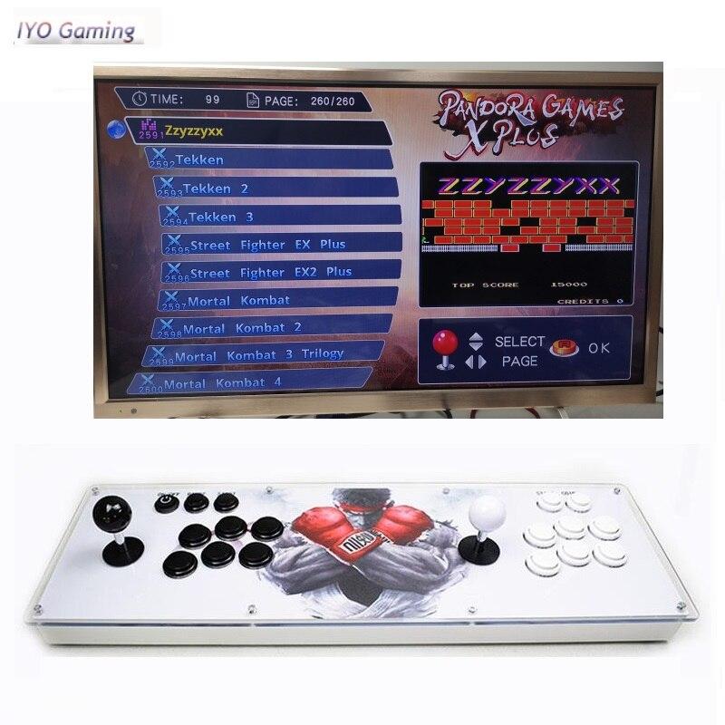 Iyo pandora x 3d arcade console 2600 em 1 pcb placa 2 player uso doméstico controlador retro máquina de jogo vídeo