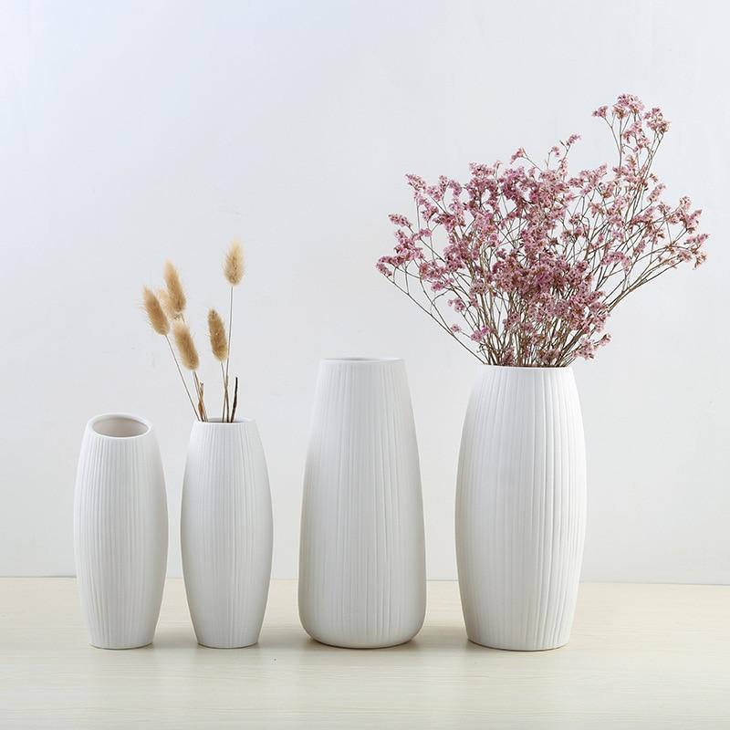 vase decor european simple white ceramic vase nordic home flower arrangement modern vases creative house living room decorations