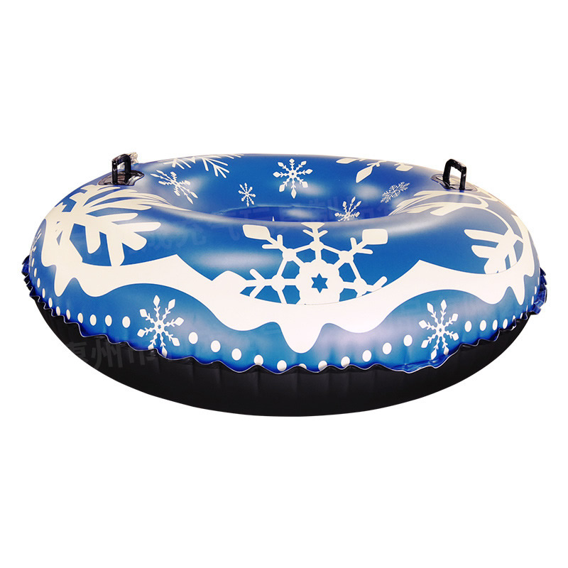 PVC 120cm Snow Tube Snow Toy Winter Inflatable Ski Circle Ski Circle Outdoor Sled Kids Sport Skiing Thickened Floated Sled