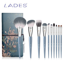 BELÄDT 10PCS Make-Up pinsel set Professional Beauty Lidschatten Natürliche haar Mit Fall Foundation Powder Blushes Make-up pinsel