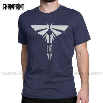 Firefly The Last Of Us Men T Shirts Ellie Fireflies Joel Tlou Video Game Vintage Tee Shirt Short Sleeve T-Shirts Cotton Gift - discount item  40% OFF Tops & Tees