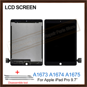 Оригинальный 9,7-дюймовый ЖК-экран в сборе для iPad Pro 9,7 A1673 A1674 A1675 ЖК-сенсорный дисплей дигитайзер Запчасти для планшетов