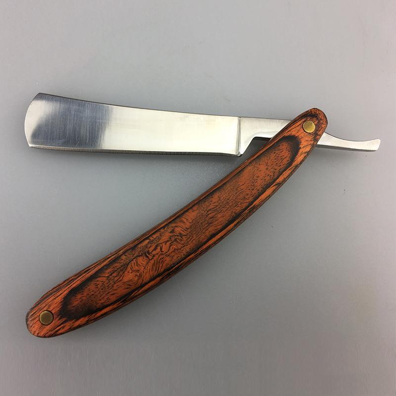 Manual Shaving Razors Wood Handle Barber Shaver Professional Barber Hair Cut Razor Folding Knife Hair Removal for Men