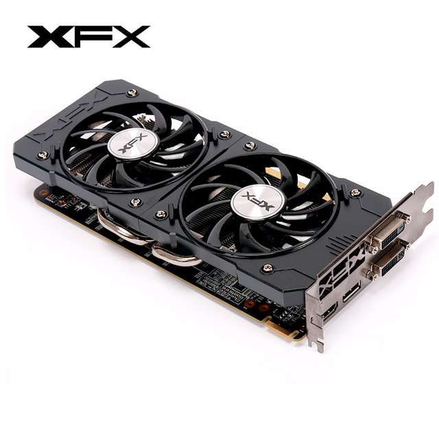 XFX Radeon R7 200 2GB Graphics Cards GDDR3 128bit Gaming Video Card DirectX 12 Desktop Computer GPU DVI-D/HDMI/DP(R7 240/R9 390) 4