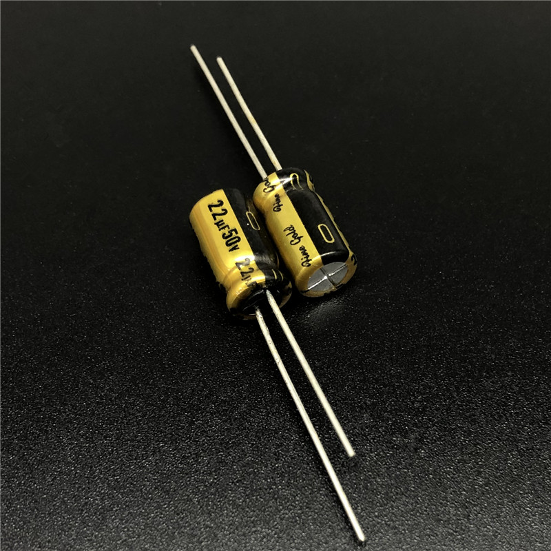 10pcs 22uF 50V NICHICON FG(Fine Gold) 6.3x11mm 50V22uF Top Grade Audio Capacitor