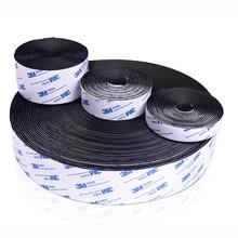 Ruban adhésif Velcros 3M, 5 m/paires 16/20/25/30/38/50mm, colle forte auto-adhésive, bande de fixation en Nylon, crochets et boucles, autocollant magique, bricolage