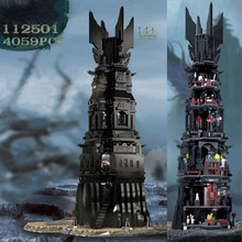 In stock The Tower of Orthanc 4059PCS 112501 Movie Series Building Blocks Bricks DIY Creative Cities Street Toy for Kids Gifts