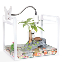 Turtle Cylinder with Drying Platform Amphibious Glass Large Special Household Small Fish Tank Tanks