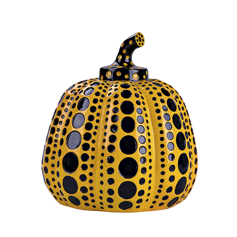 Kusama Yayoi Pumpkin Japanese Artist Modern Sculpture Polka Dot Art Home Decorations Office Arts Wedding Christmas Gift R2995